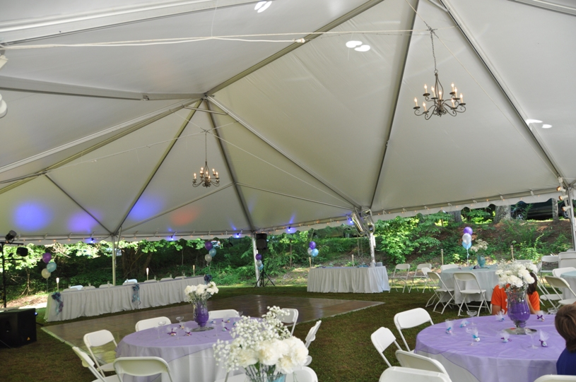 Future Tent with Candeliers