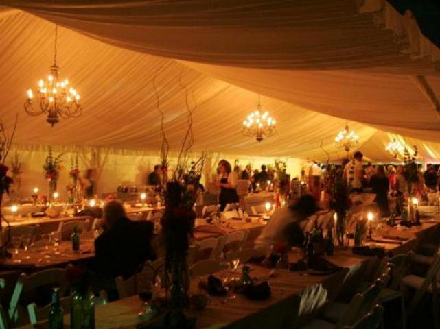 Tent Liner and Chandelier