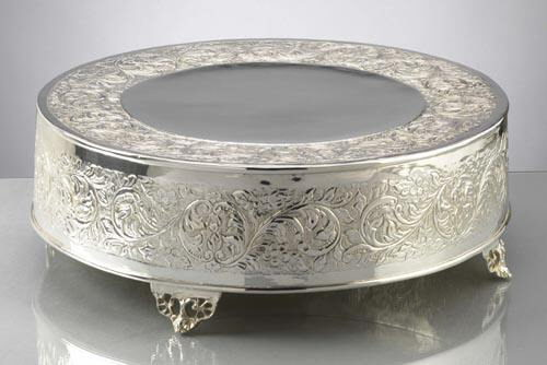 Where to find SILVER 19  ROUND CAKE STAND in Mt. Airy