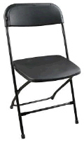 Where to rent CHAIR BLACK FOLDING in Mt. Airy NC