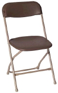 Where to rent CHAIR BROWN FOLDING in Mt. Airy NC