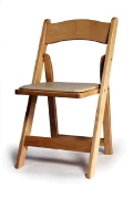 Where to rent CHAIR NATURAL WOOD PAD in Mt. Airy NC