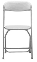 Where to rent CHAIR WHITE FOLDING in Mt. Airy NC