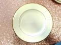Rental store for IVORY GOLD DINNER PLATE 10 in Mt. Airy NC