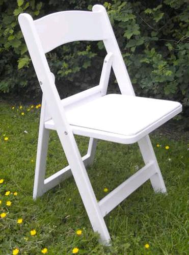 Where to find CHAIR WHITE PADDED RESIN in Mt. Airy