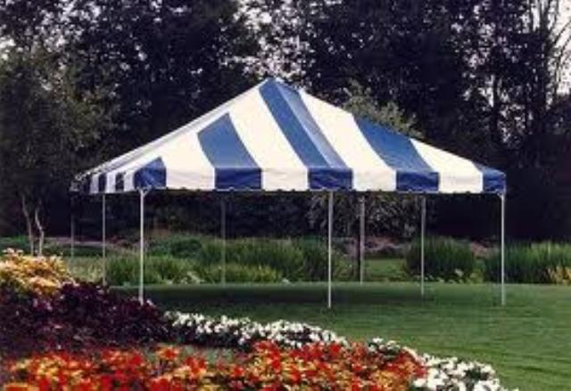 Where to find TENT 20X20 BLUE WHITE in Mt. Airy
