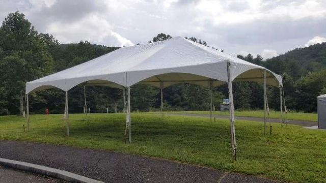 Where to find TENT 20X30 WHITE FRAME in Mt. Airy