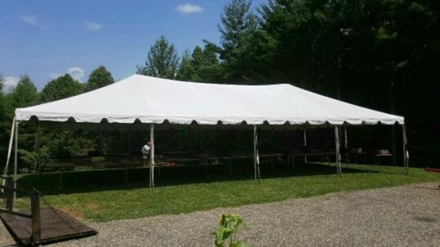 Where to find TENT 20X40 WHITE FRAME in Mt. Airy