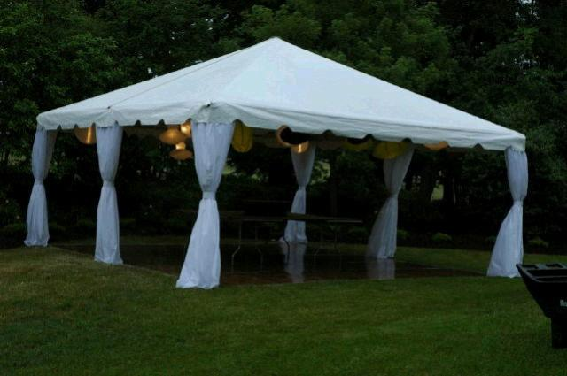 Where to find TENT 20X20 WHITE FRAME in Mt. Airy