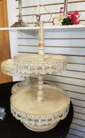 Where to rent ANTIQUE WHITE 2 TIER SERVER in Mt. Airy NC