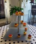 Where to rent MINI SILVER SQUARE CUPCAKE STAND in Mt. Airy NC
