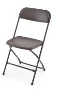 Where to rent CHAIR CHOCOLATE FOLDING in Mt. Airy NC