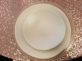 Where to rent HEIRLOOM BLUSH SALAD PLATE 8 in Mt. Airy NC