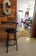 Where to rent BAR STOOL SWIVEL W  BACK-BLACK in Mt. Airy NC