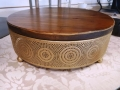 Where to rent GOLD W  WOOD TOP 12  RD. CAKE STAND in Mt. Airy NC