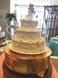 Where to rent GOLD 18  ROUND CAKE STAND in Mt. Airy NC