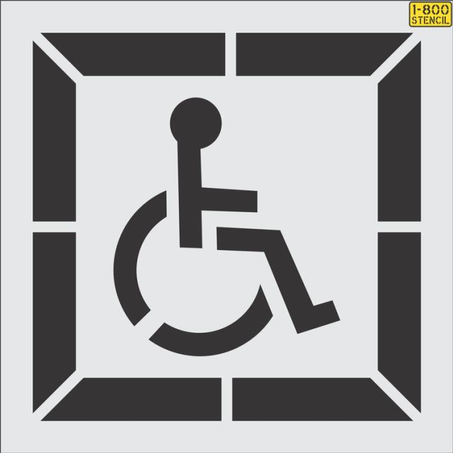 Where to find HANDICAP STENCIL in Mt. Airy